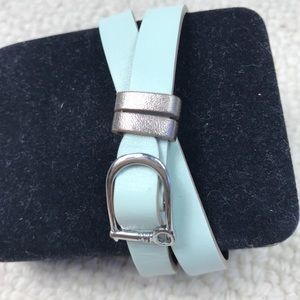Keep Collective Double Leather Band Mint/Steel